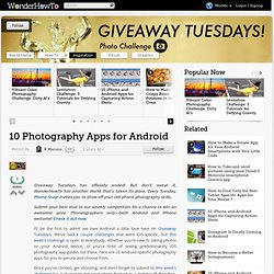 10 Photography Apps for Android