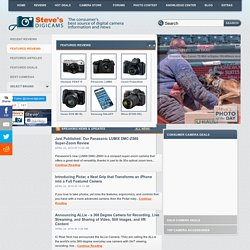 Steve's Digicams - Main Menu