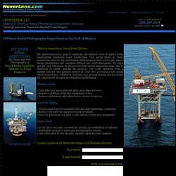 HOVERLENS.COM - Marine & Offshore Aerial Photography Inspection Services.