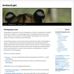 Photography Laws « AmbientLight