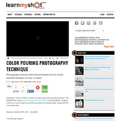 Color Pouring Photography Technique