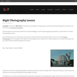 Night Photography Lesson