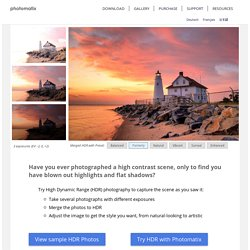HDR photo software & plugin - Tone Mapping, Exposure Blending & HDR Imaging for photography