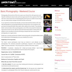 Weekend Photography Classes Chennai