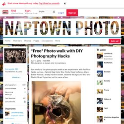 *Free* Photo walk with DIY Photography Hacks - Naptown Photo (Annapolis, MD)