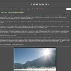 Lenses For Landscape Photography » Naturography – Nature Photography By Mike Spinak