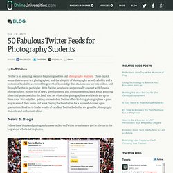 50 Fabulous Twitter Feeds for Photography Students