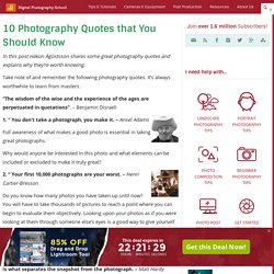 10 Photography Quotes that Every Photographer Should Know