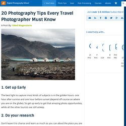20 Photography Tips Every Travel Photographer Must Know