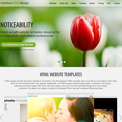 Photo Websites. Fully Editable Websites for Photographers