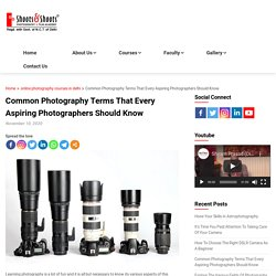 Common Photography Terms That Every Aspiring Photographers Should Know