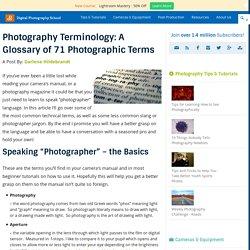 "Deciphering Photo Jargon - Learn to Speak ""Photographer"""