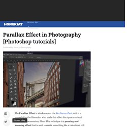 Parallax Effect in Photography [Photoshop tutorials]
