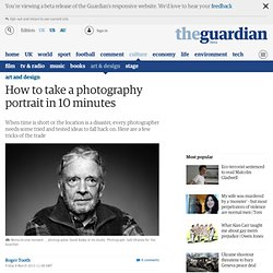 How to take a photography portrait in 10 minutes
