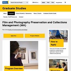 Université Ryerson - Préservation et gestion des collections, films et photographies