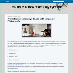 AUDRA ODEN PHOTOGRAPHY: Promote your Company's Brand with Corporate Photography