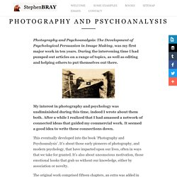 Photography and Psychoanalysis -Stephen Bray