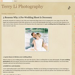 Reasons Why Pre-Wedding Shoot Is Necessary