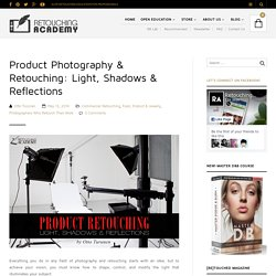 Product Photography & Retouching: Light, Shadows & Reflections