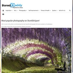 Most popular photography on StumbleUpon!
