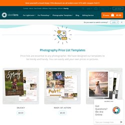 Photography Price List Templates - Elegant & Clean Designs