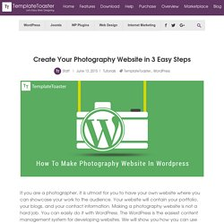 Create Your Photography Website in 3 Easy Steps - TemplateToaster Blog