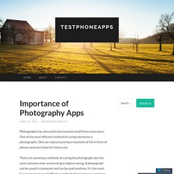 Importance of Photography Apps