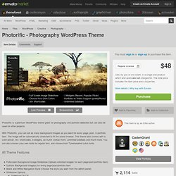 Photorific - Photography WordPress Theme