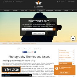 Photography Themes and Issues