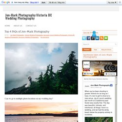 Top 4 FAQs of Jon-Mark Photography
