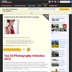 » Top 20 Photography Websites 2012