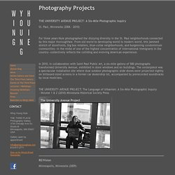 Photography Projects - wingyounghuie