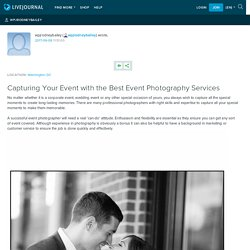 Capturing Your Event with the Best Event Photography Services: wpjrodneybailey