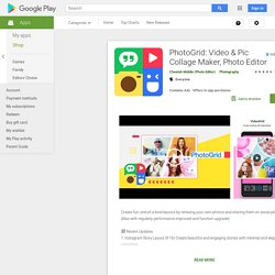 PhotoGrid: Video & Pic Collage Maker, Photo Editor