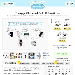Fisheye, Macro, Wide Angle and Telephoto Phone Lenses