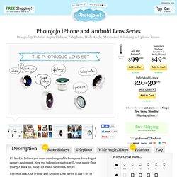 Fisheye, Macro, Wide Angle and Telephoto Phone Lenses
