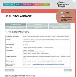 Le photolangage - Les cahiers du DD - outil complet