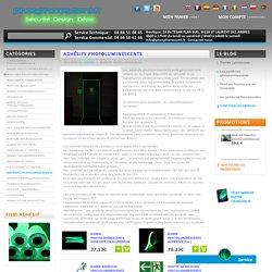 Adhésifs photoluminescents - Phosphorescent