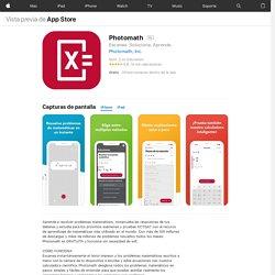 Photomath en AppStore