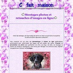 Montages photos et retouches d'images en ligne.