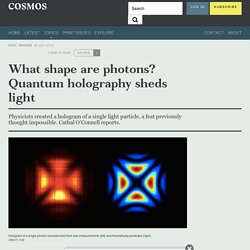 What shape are photons? Quantum holography sheds light