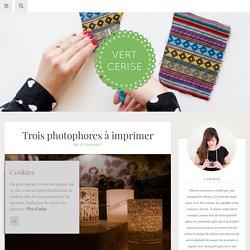 Trois photophores à imprimer - Vert Cerise