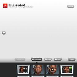 Kyle Lambert - Morgan Freeman - Photorealistic Finger Painting