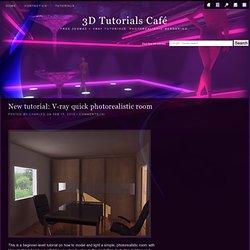 New tutorial: V-ray quick photorealistic room