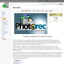 PhotoRec - Digital Picture and File Recovery