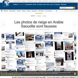Les photos de neige en Arabie Saoudite sont fausses