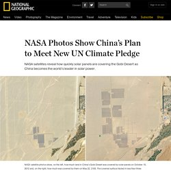 NASA Photos Show China's Plan to Meet New UN Climate Pledge