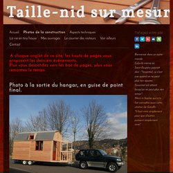 Photos de la construction - Tiny-house en Velay