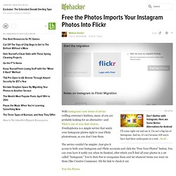 Free the Photos Imports Your Instagram Photos Into Flickr
