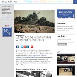 Photos de Montmartre au début du 20e siècle